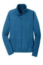 Port Authority Sweater Fleece Jacket Embroidery