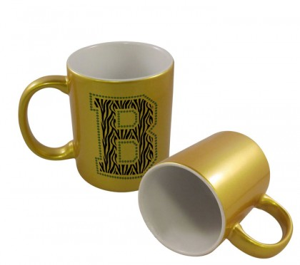 Gold Metallic Mug - 11 oz