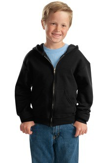 JERZEES Youth NuBlend Full-Zip Hooded Sweatshirt Embroidery
