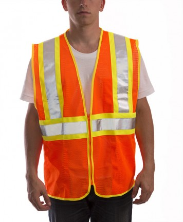 Job Sight Class 2 Two-Tone Mesh Vest