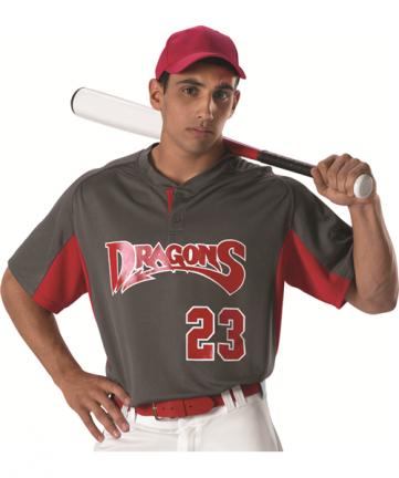Youth 2 Button Henley Baseball Jersey