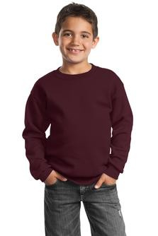 Port & Company Youth Crewneck Sweatshirt Embroidery