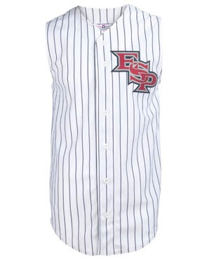 Youth Sleeveless Pinstripe Poly Jersey