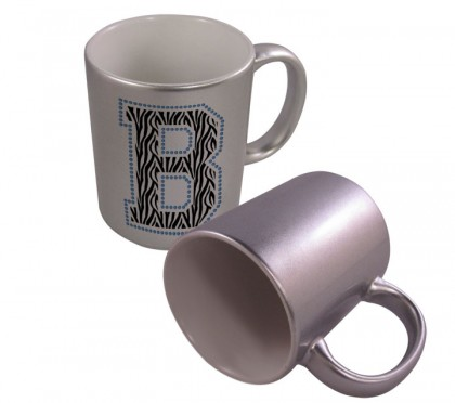 Silver Metallic Mug - 11 oz