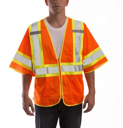 Job Sight Class 3 Two-Tone Mesh Vest