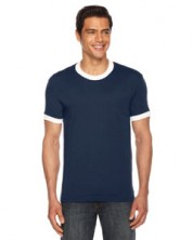 American Apparel Unisex Poly-Cotton Short-Sleeve Ringer T-Shirt