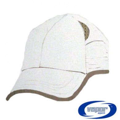 Vapor Back Country Hat  - White with Tan Trim