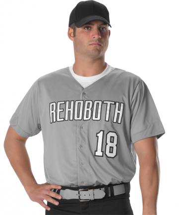 Youth Full Button Lightweight Baseball Jersey