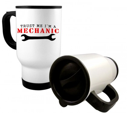 White Stainless Steel Travel Mug - 14 oz