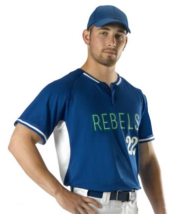 Youth 2 Button Baseball Jersey