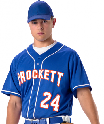 Youth Faux Front Baseball Jersey With Braid