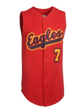 Adult Squeeze Play Full Button Sleeveless Pro-Weight Jersey