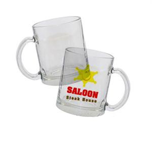 Clear Glass Mug - 11 oz