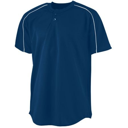 WICKING TWO-BUTTON BASEBALL JERSEY