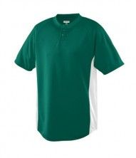 WICKING COLOR BLOCK TWO-BUTTON JERSEY