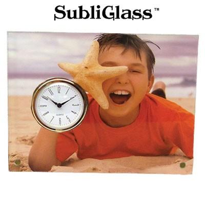 SubliGlass Clock