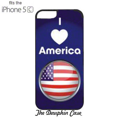 iPhone 5c Dauphin Rubber Case - Black