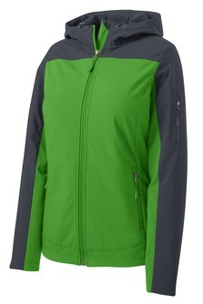 Port Authority Ladies Hooded Core Soft Shell Jacket Embroidery