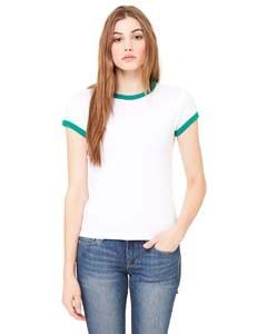 Ladies' Baby Rib Short-Sleeve Ringer T-Shirt