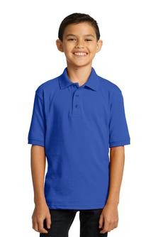 Port & Company Youth 5.5-Ounce Jersey Knit Polo Embroidery