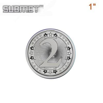"""Disk, Round, Silver,  1"""""""