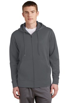 Sport-Tek Sport-Wick Fleece Full-Zip Hooded Jacket Embroidery