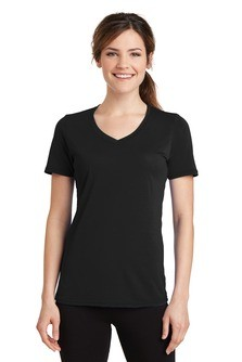 Port & Company Ladies Essential Blended Performance V-Neck Tee