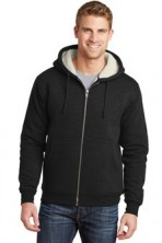 CornerStone Heavyweight Sherpa-Lined Hooded Fleece Jacket Embroidery