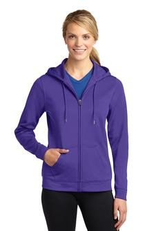 Sport-Tek Ladies Sport-Wick Fleece Full-Zip Hooded Jacket Embroidery
