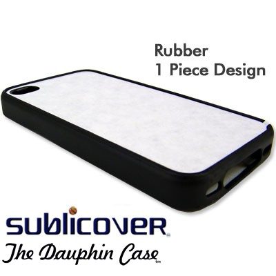 iPhone 4/4s Dauphin Rubber Case - Black